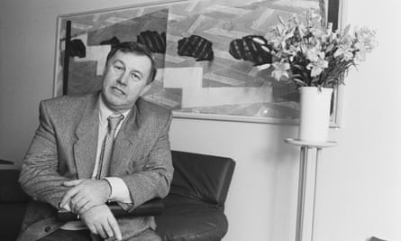 Terence Conran in 1985, the year before Habitat Mothercare merged with British Home Stores.