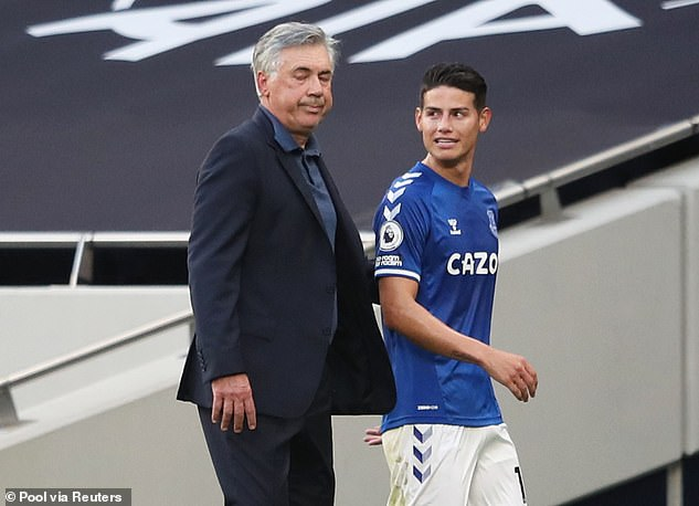 Carlo Ancelotti signed Rodriguez in the summer after working with him at two different clubs