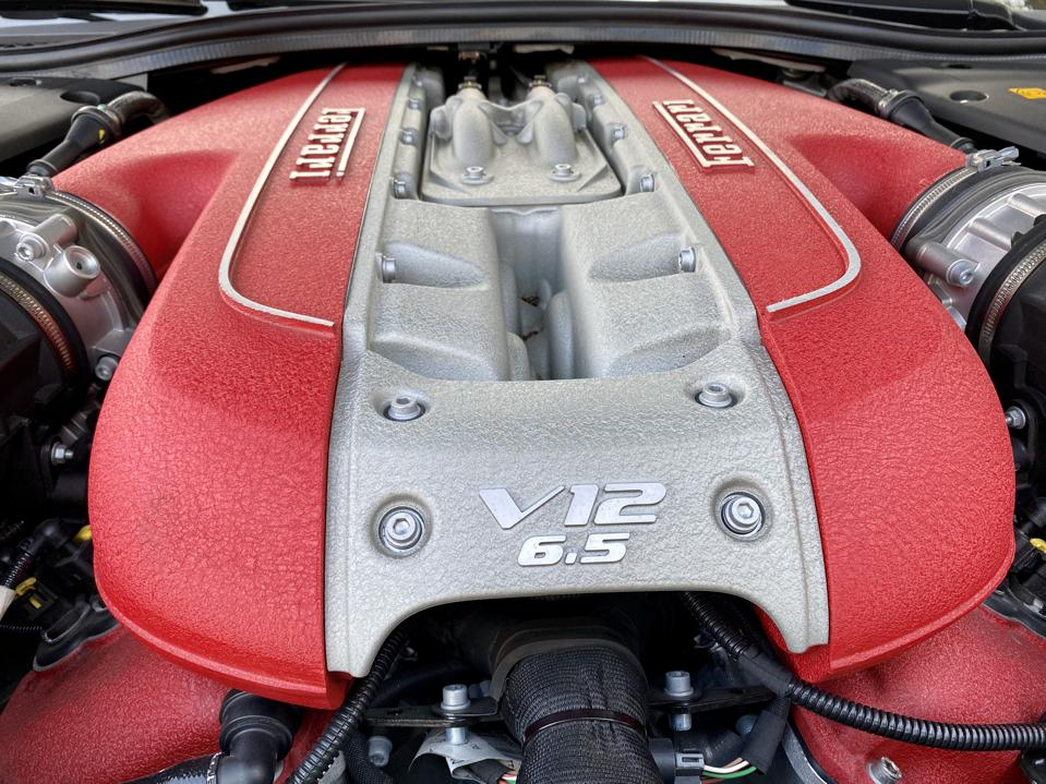 Naturally aspirated V12 that revs with vicious immediacy of a MotoGP engine.