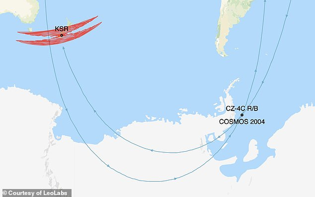 An out of commission Russian satellite and discarded Chinese rocket floating in orbit more than 600 miles above Earth's surface are 'very high risk' of colliding