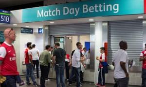 Betting kiosk prior to kick off at Wembley Stadium<br>EYR3K4 Betting kiosk prior to kick off at Wembley Stadium