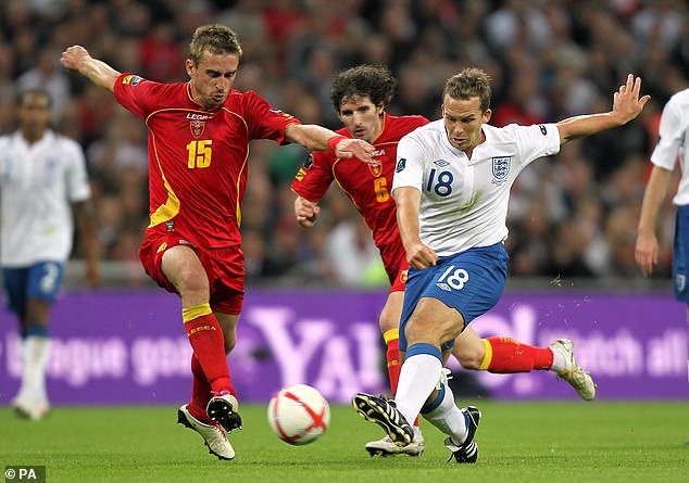 Kevin Davies made his only England appearance against Montenegro in a Euro 2012 qualifier