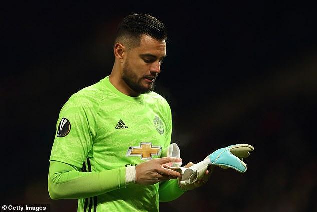 Goalkeeper Sergio Romerohas fallen down pecking order at Manchester United