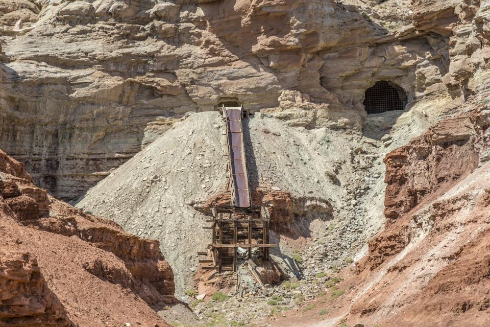 Abandoned Dirty Devil Uranium Mine in Utah