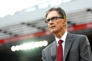 John W Henry, Liverpool's principal owner, at Anfield in August 2019.