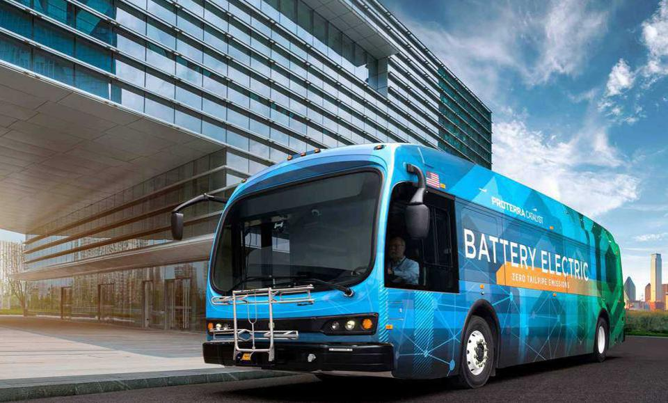This is one of more than 500 battery powered buses Proterra has manufactured and sold in the U.S. and Canada.