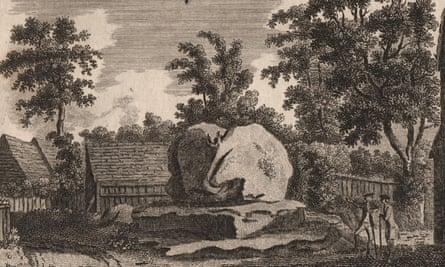 THE CHIDING STONE, Chiddingstone, Kent, 1776 print