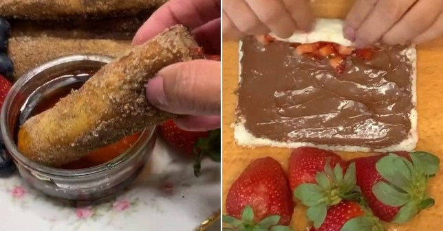 Nutella French toast fingers