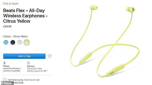The latest Beats headphones (pictured), available in black and yellow, sees Apple expand its audio hardware and are on sale for £49.99 ($49.99)