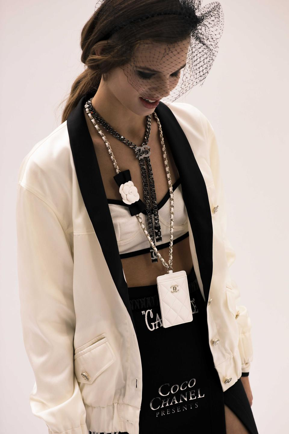 CHANEL SS 2021 RTW Collection- logos and trademarks are accentuated