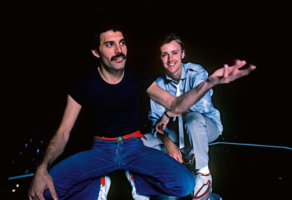Freddie Mercury & Roger Taylor, 1980.