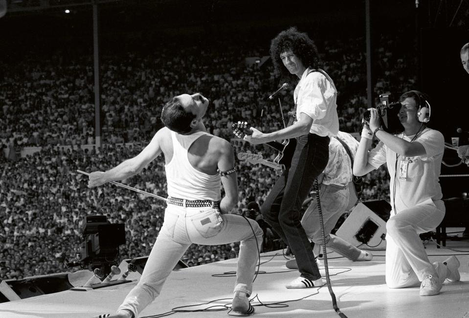 Queen, Live Aid, Wembley Stadium, 1985.