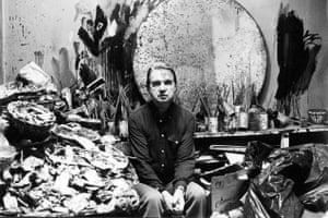 Francis Bacon at his studio, 1980.