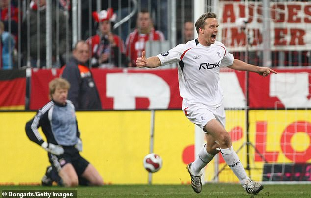 Davies scored against Bayern Munich in the 2007-2008 UEFA Cup with the club drawing 2-2