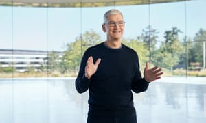 Apple chief Tim Cook kicks off the special event.