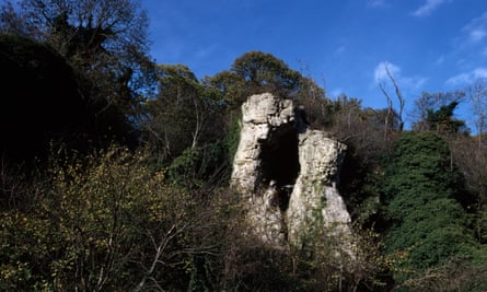 Creswell Crags, limestone gorge,