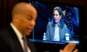 United States Senator Cory Booker speaks Wednesday of the confirmation hearing for Judge Amy Coney Barrett, President Donald Trump's Nominee for Supreme Court.