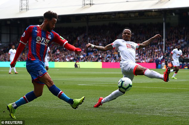 Clyne (right, playing against Palace) has not featured in the Premier League since spending a season on loan at Bournemouth during the 2018-19 campaign