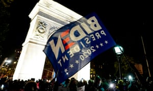"""Vote with your feet .... people gather at Washington Square Park during a """"Count Every Vote"""" rally in New York on November 4, 2020."""