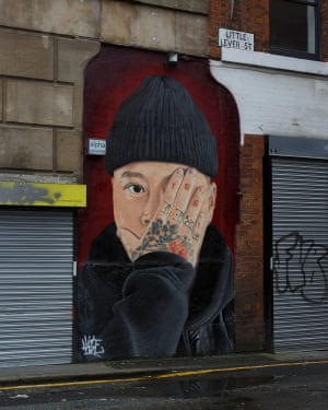 Akse's portrait of local creative Ste Wing in Manchester.