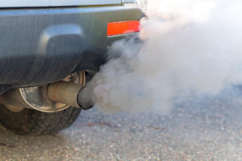 Car Exhaust Smoke Closeup