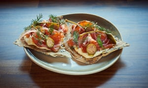 Fourth and Church's trout with pastrami cure: 'Pretty.'