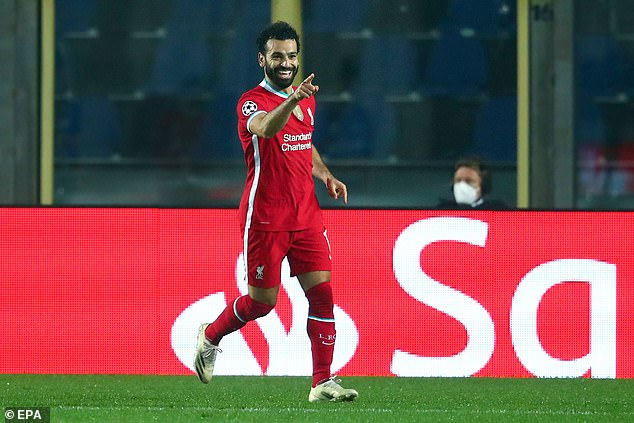 Mohamed Salah is now Liverpool's joint top scorer of all time in the Champions League