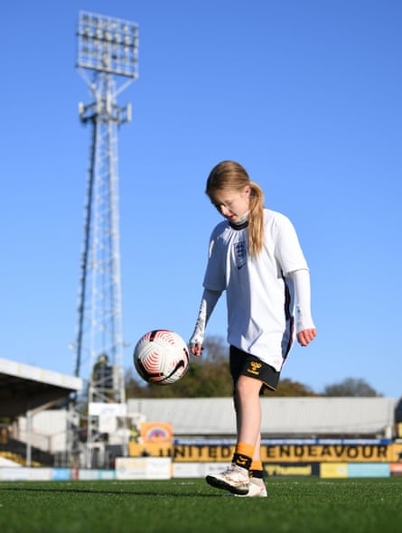 Imogen Papworth-Heidel at the Abbey Stadium.