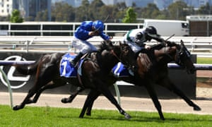 Luke Nolen riding #2 Finance Tycoon (R) wins race one.