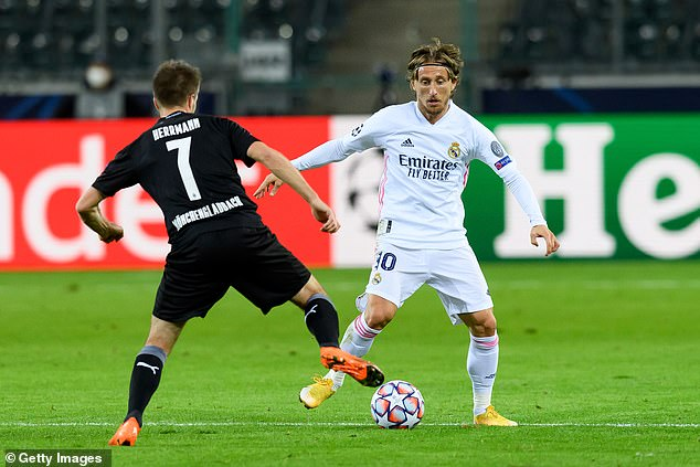 Luke Modric looks set to be left out of the Madrid midfield for the Inter clash on Tuesday night