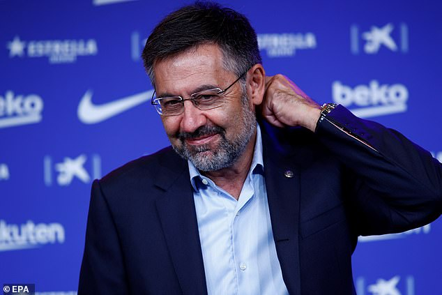 Messi publicly fell out with former club president Josep Bartomeu over the situation