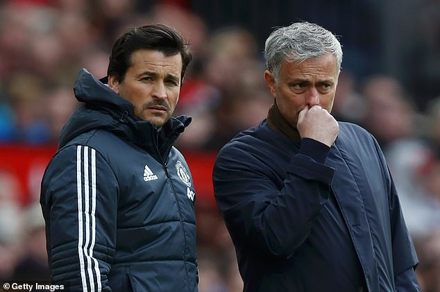 Jose Mourinho (right) was sacked in December 2018 but Keane blamed players for the demise
