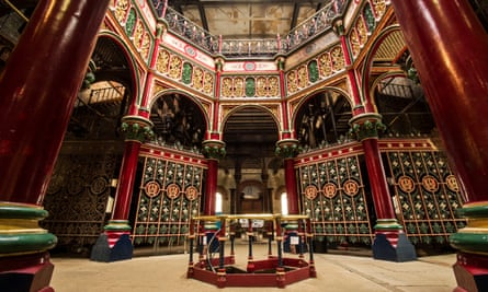 A restored area of the Crossness sewage pumping station. y