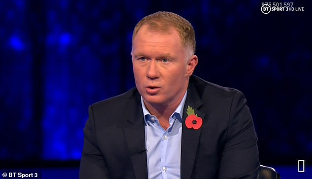 Paul Scholes even slammed his former club's defending for the first goal as 'Under 10s football'