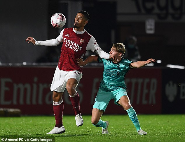 Saliba is likely to be playing under-23 football only for Arsenal between now and January