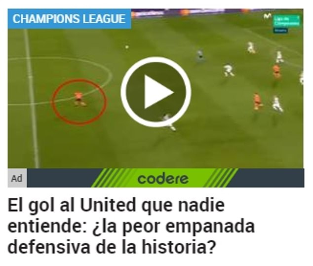 Marca went a step further to ask readers about 'the United goal that no-one can understand'