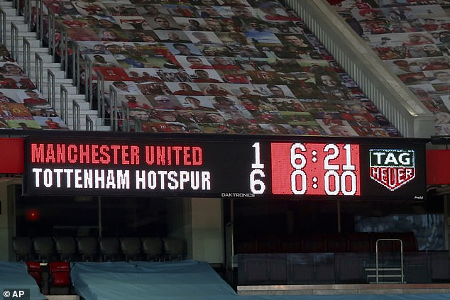 Manchester United were humiliated earlier this season suffering a 6-1 loss against Tottenham