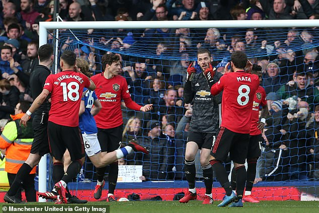 David de Gea was exposed away to Everton and Keane said that he would 'have killed him'