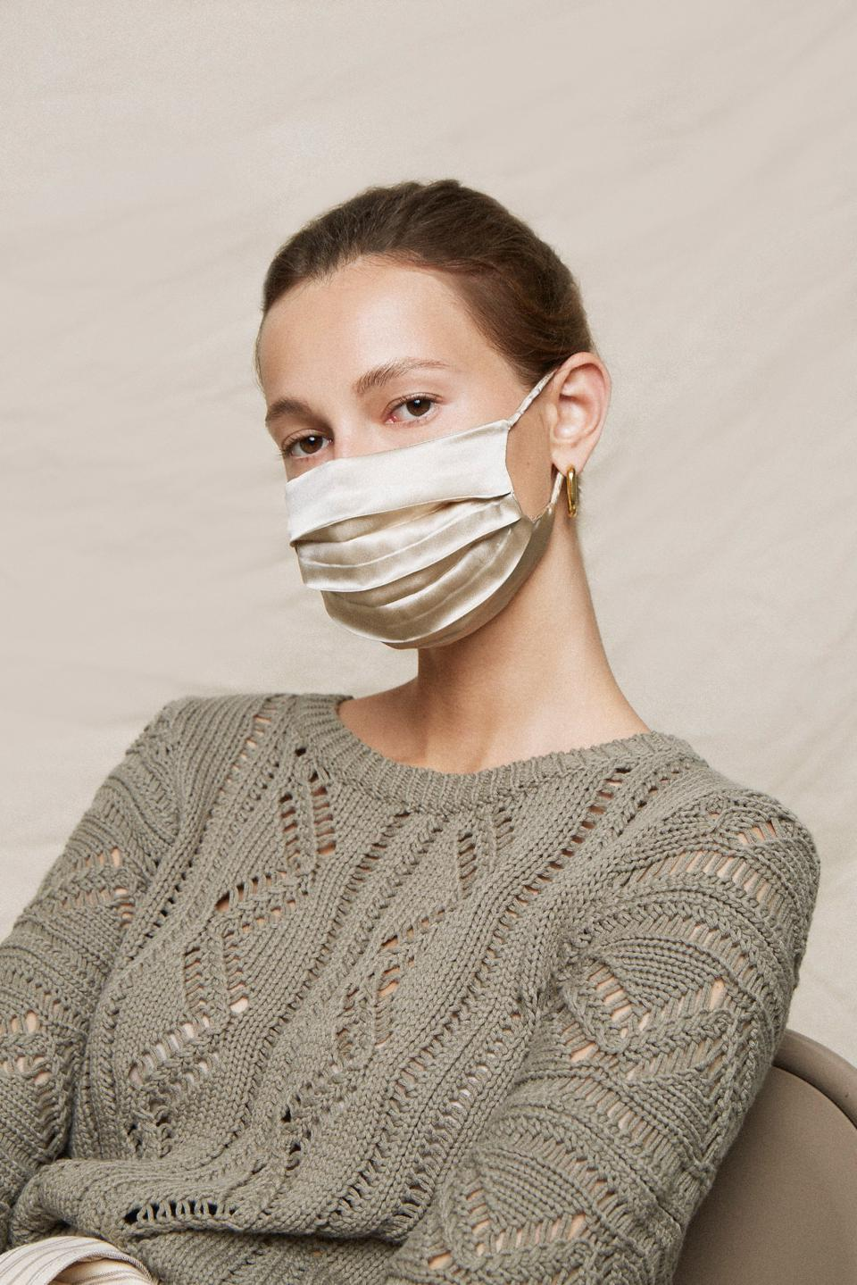 Tata Harper x Jonathan Simkhai 100% Silk Mask Pack