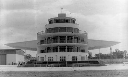 The terminal building and control tower at Elmdon Airport, Birmingham,