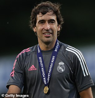 Former Madrid player Raul is currently the coach of the club's reserve Castilla team