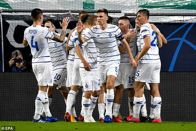 Six first-team players from the Dynamo Kiev squad have tested positive for coronavirus