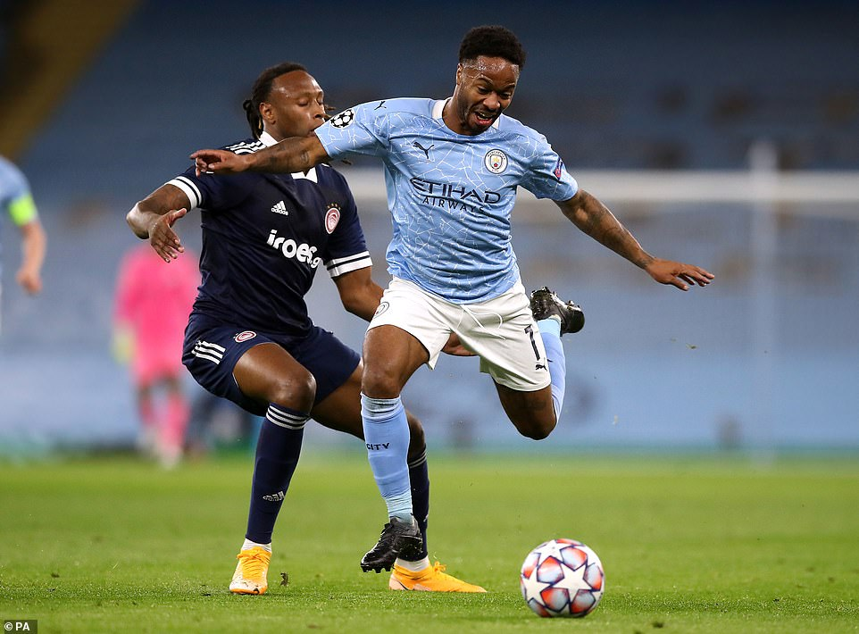 Manchester City dominated in the first period, creating plenty of chances but only managing to score one of their shots