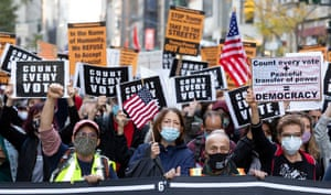 Demonstrators march on Fifth Avenue in New York on Wednesday.