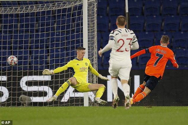Basaksehir's shock lead was then doubled before the break with Edin Visca crashing home