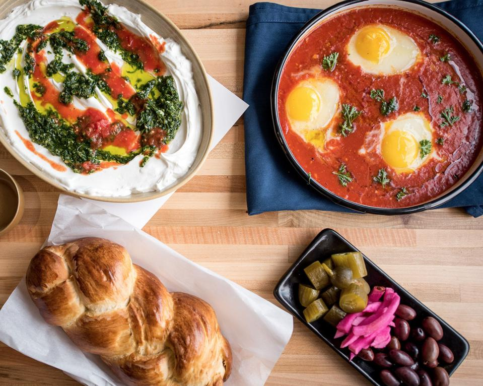 A selection of food from Shuk Shuka.