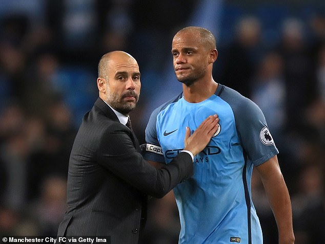Kompany played for three seasons at Manchester City under their current boss Guardiola