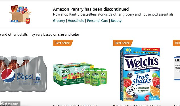 Amazon Pantry launched in 2014, allowing customers to pay a flat $5 shipping fee for up to 45 pounds of household essentials and nonperishable groceries. A notice on the Amazon site indicates the service has been discontinued