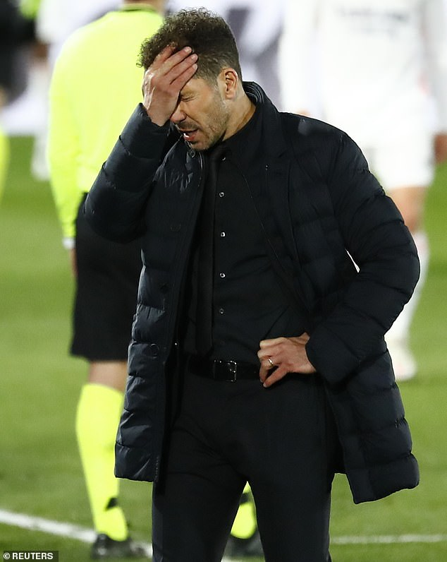 Diego Simeone and Atletico Madrid's game against Athletic Bilbao has been postponed