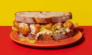 Yum! Hot fish-finger sandwiches